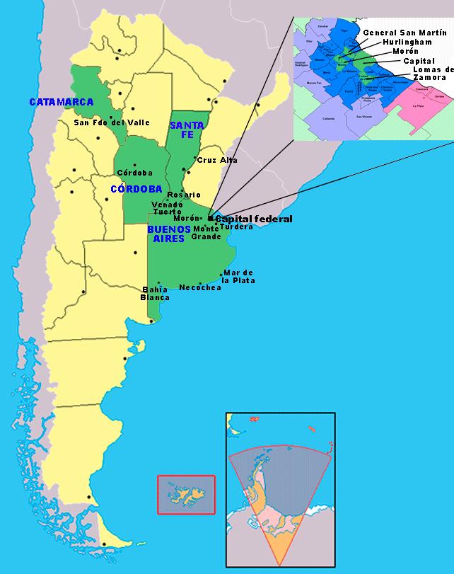 Mapa Martinena Argentina